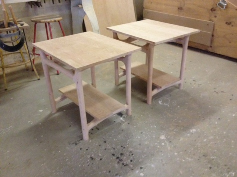 Sculpted Vermont Cherry Side Tables
