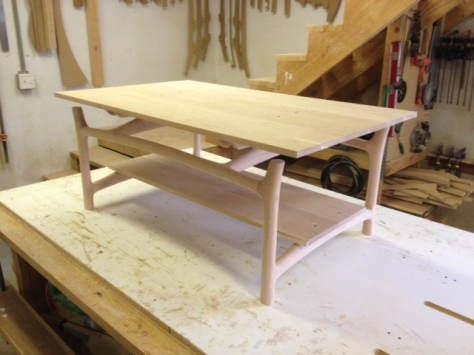 Sculpted Vermont Cherry Coffee Table