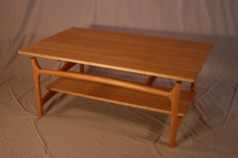 Custom Sized Sculpted Vermont Cherry Coffee Table